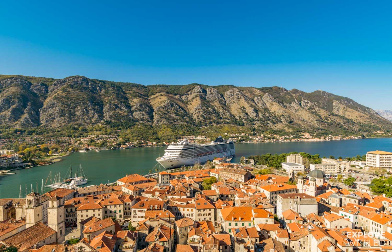 MSC Musica cruise ship in Kotor Montenegro