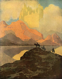 The city of Brass as imagined  by Maxfield Parrish