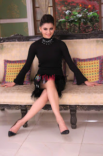 Urvashi Rautela Legs In Sitting Position