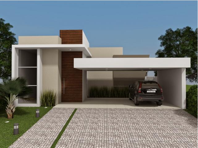 Construindo minha casa clean fachadas de casas quadradas for Fachadas de chalets modernos
