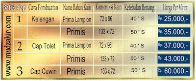 Gosir Batik cap murah di jakarta utara dengan bahan katun yang berkualitas. Mulai harga