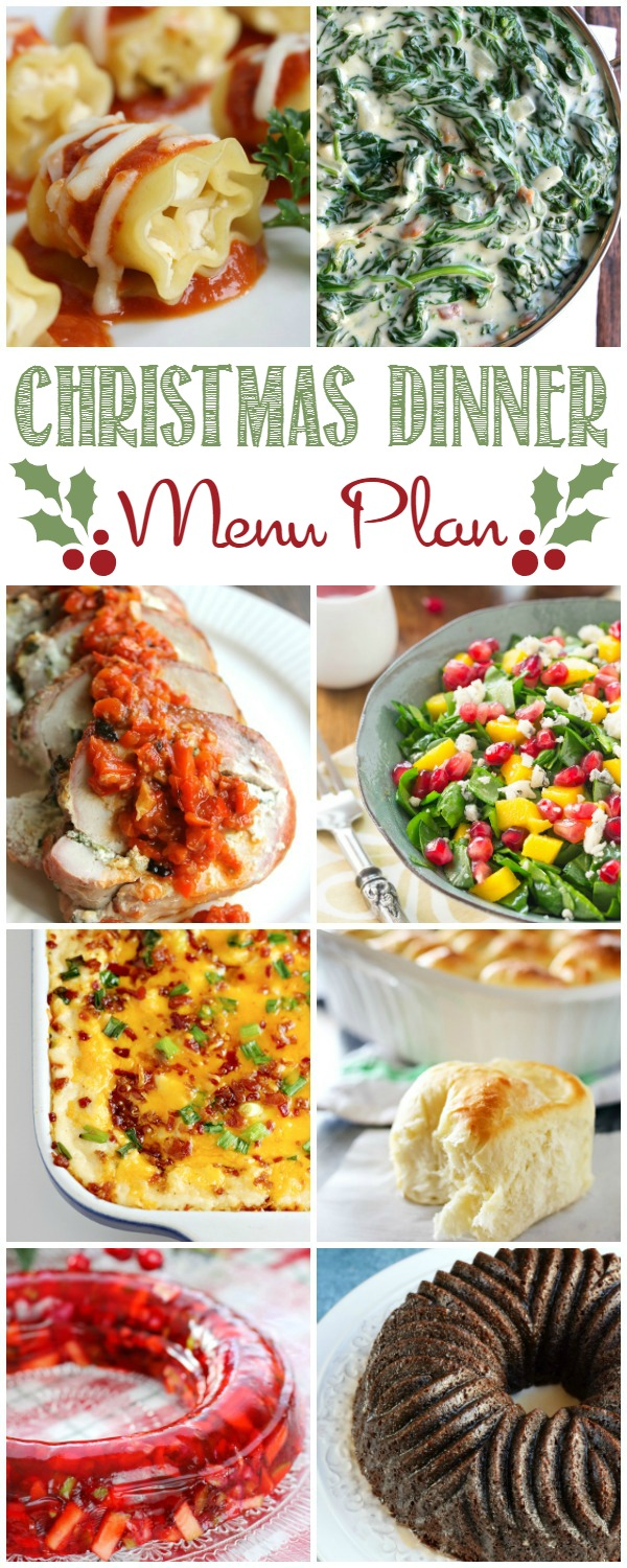 Christmas Dinner Menu Plan Recipes