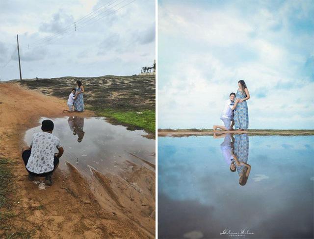 Một vũng nước cũng có thể nâng tầm cho bức ảnh