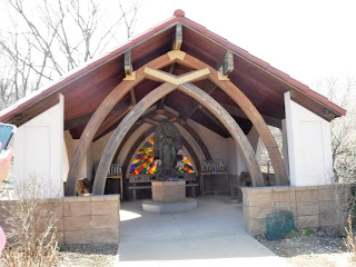 shrine to Our Lady of Guadalupe at Trinity Heights in Sioux City, Iowa