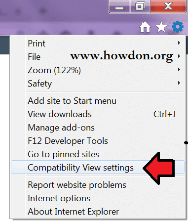 how to change internet explorer compatibility mode
