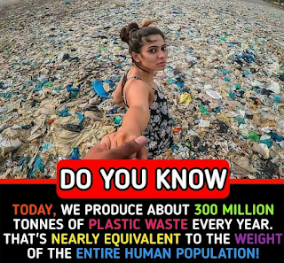 Plastic pollution is equal to the weight of humans
