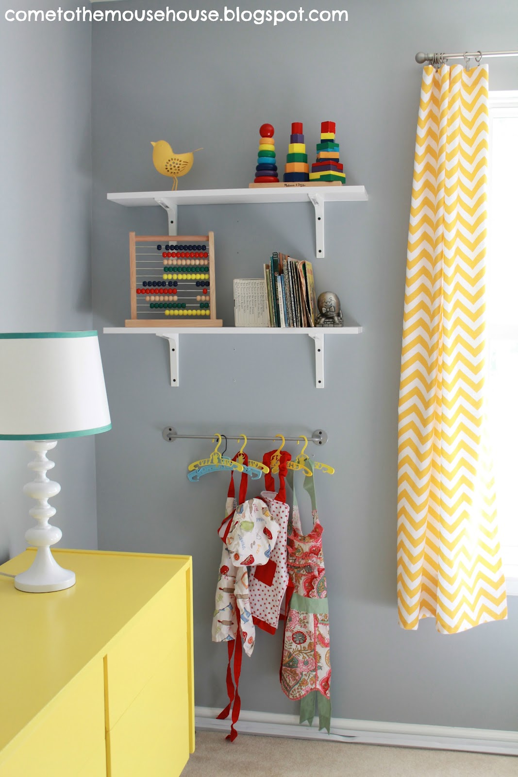 Best Paint Color For Playroom Gray And Yellow Playroom The Reveal