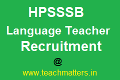 image: HPSSSB Language Teacher Recruitment @ TeachMatters
