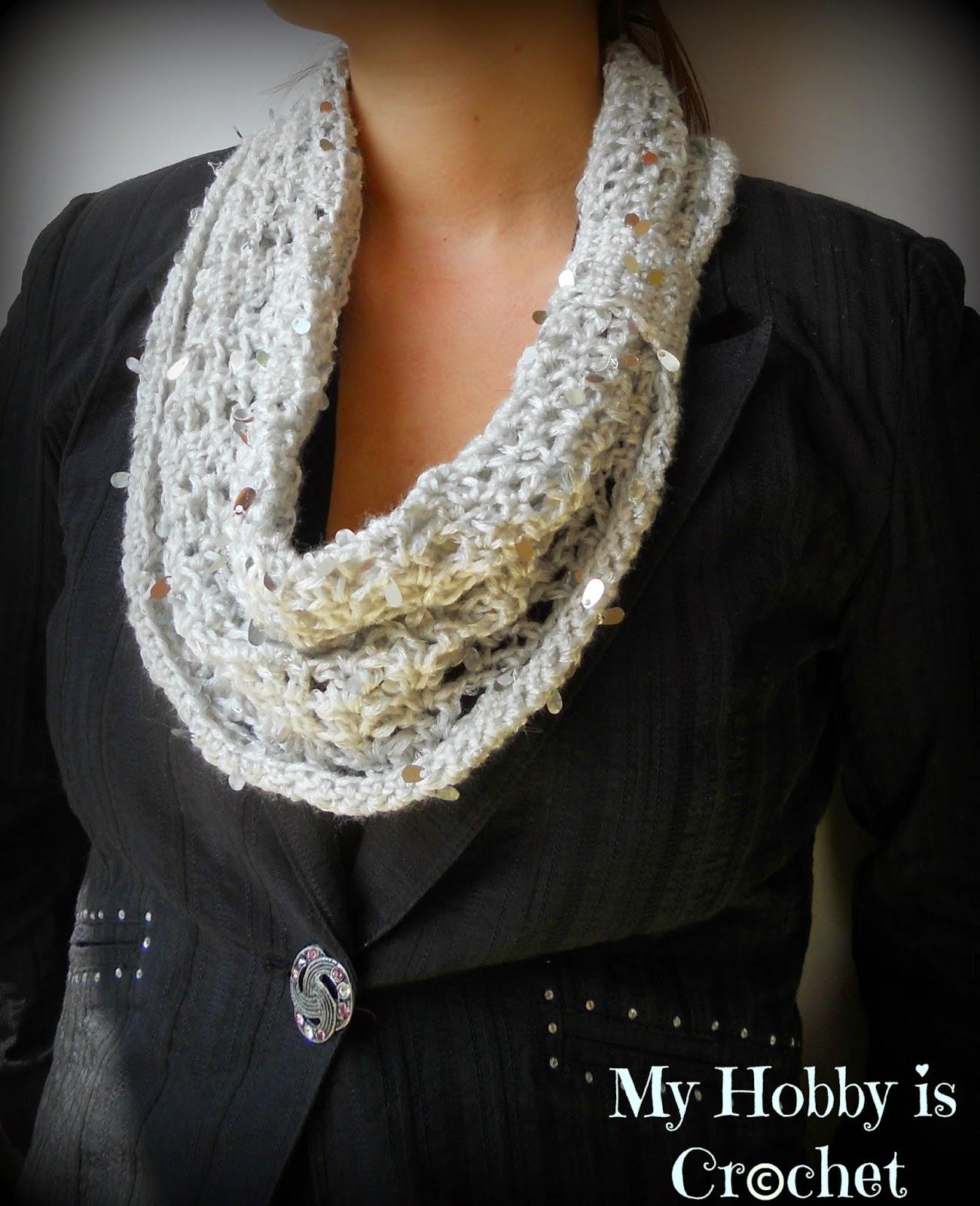 Swanky Glam Cowl - Free Crochet pattern on myhbbyiscrochet.com