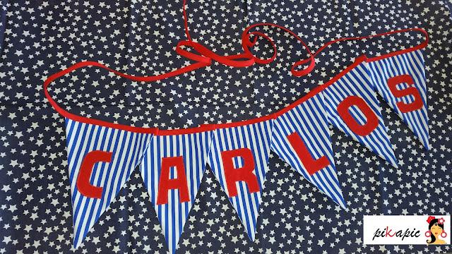 Banderines decorativos. Carlos. Pikapic
