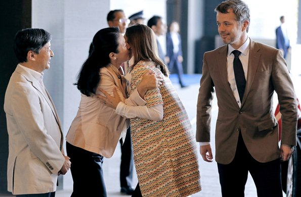 Prince Frederik and Princess Mary, Crown Prince Naruhito and Crown Princess Masako at ECCO in Japan