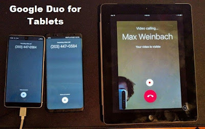 Google duo on tablets