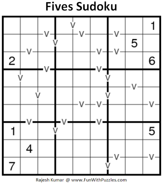 Fives Sudoku (Fun With Sudoku #190)