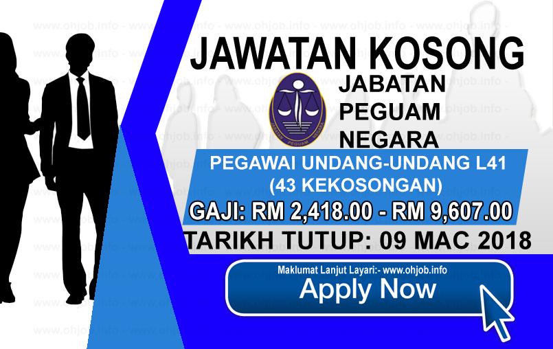 Jawatan Kerja Kosong Jabatan Peguam Negara logo www.ohjob.info mac 2018