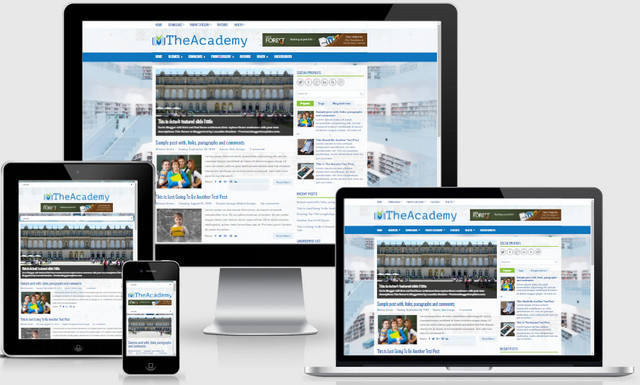 DeAcademy Responsive Blogger Template is a 100% responsive blogger template