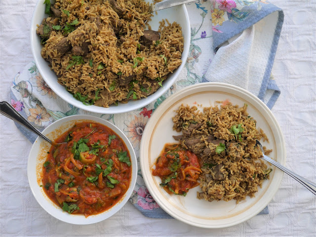 This muslim girl bakes fijian indian lamb pulao another difference is that there is no stock yakhni made in this pulao instead we make a really intense lamb masala finally the rice is stir fried forumfinder Images