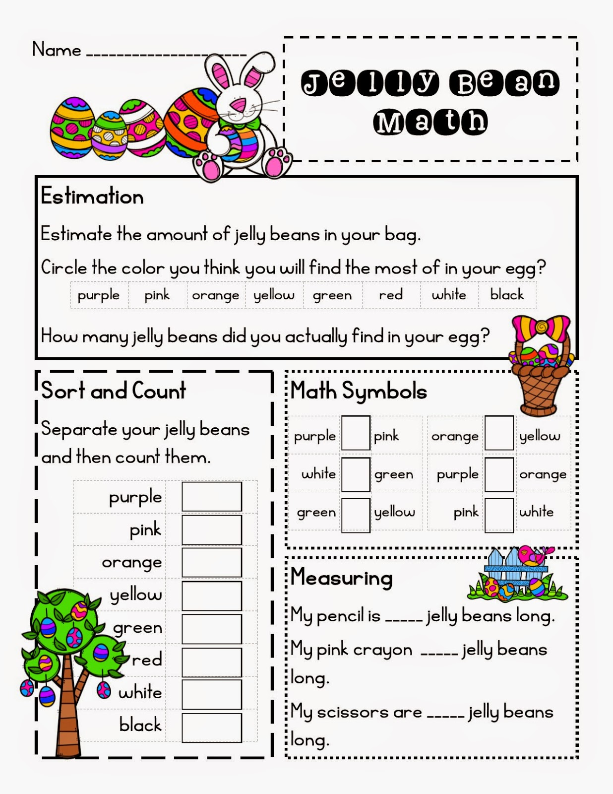 Lory S 2nd Grade Skills Jelly Bean Math