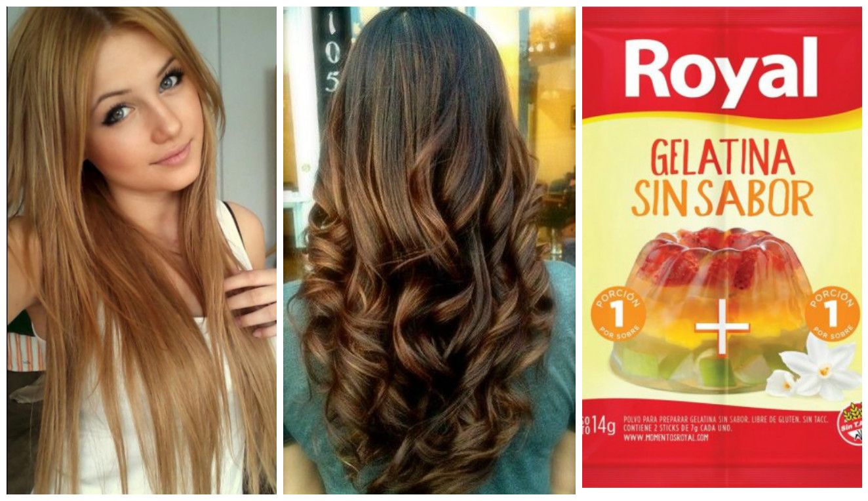 Caida del cabello gelatina