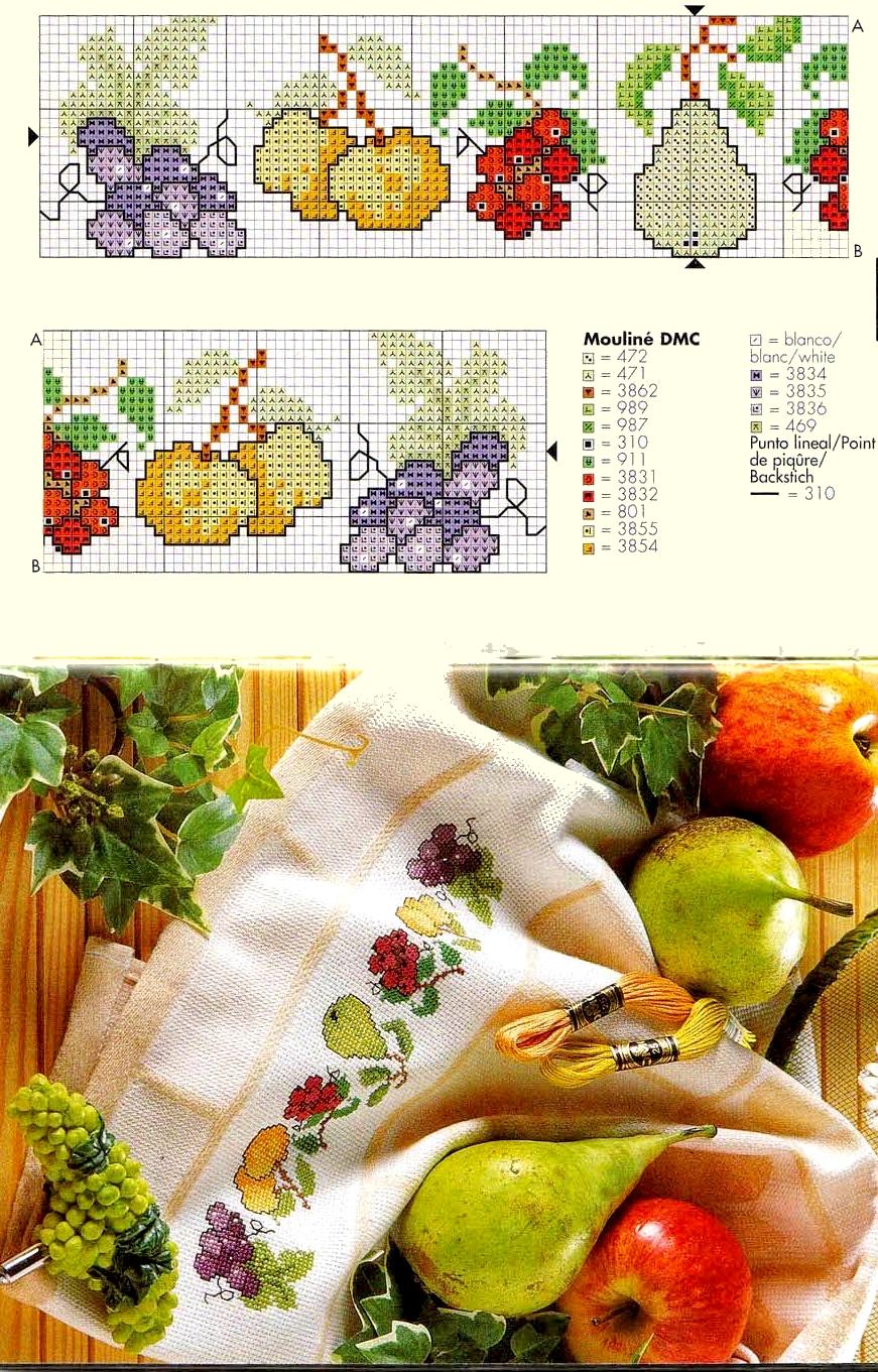 Ricami Punto Croce Per Cucina.Grande Raccolta Di Schemi E Grafici Per Punto Croce Free Schemi Per