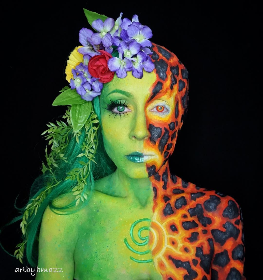 03-Earth-and-Fire-Brenna-Mazzoni-Body-Paint-Fx-Makeup-Transformations-www-designstack-co