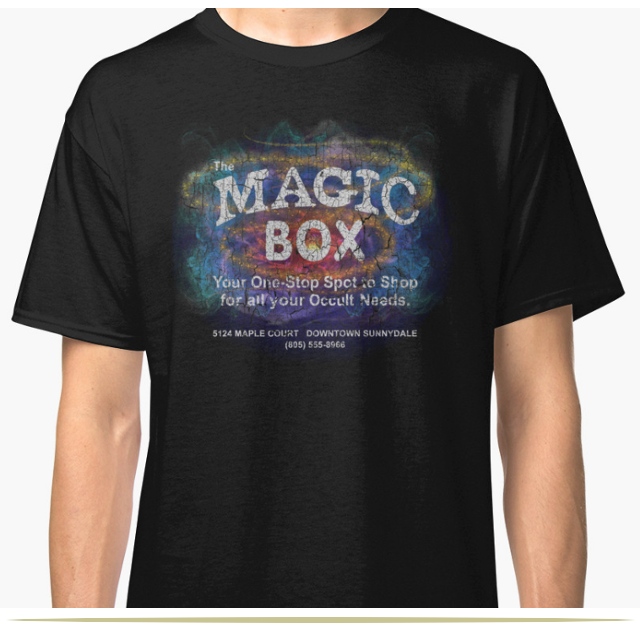 Magic Box Buffy the Vampire Slayer T-Shirt by independent artist Jazz Beitler  |  9 Cool Things