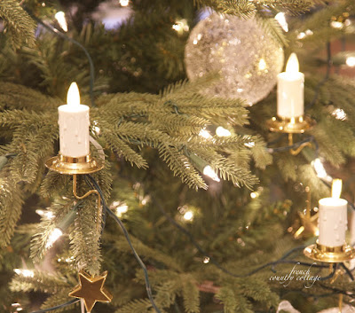 Candle Christmas tree ornaments LED