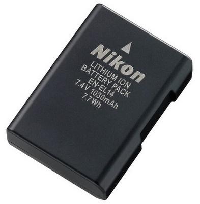 A bateria recarregável para câmera Nikon EN-EL14é compatível com a Nikon Df, D5500, D5100, D3200, D3100, D5300, D5200, CoolPix P7000 e CoolPix P7800