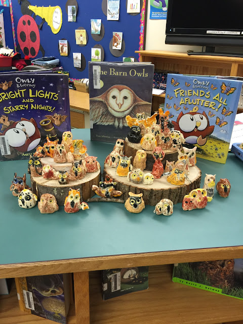Fun Way of Displaying Second Grade Owls