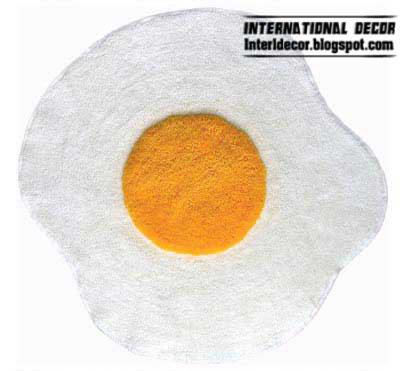Rug, Carpet In Egg Form For Kitchen: