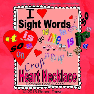 https://www.teacherspayteachers.com/Product/Sight-Words-Heart-Necklace-1689617