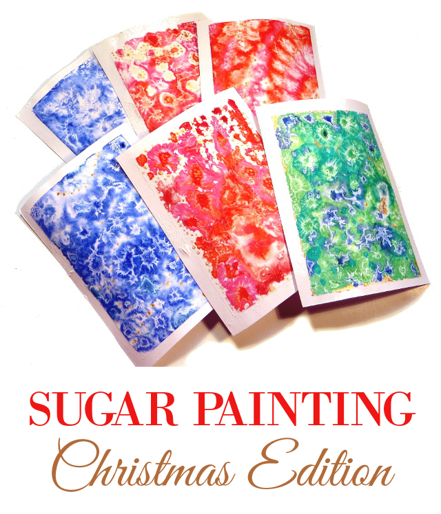 sugar watercolor painting christmas