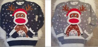 Bluza tricotata pt iarna cu ren
