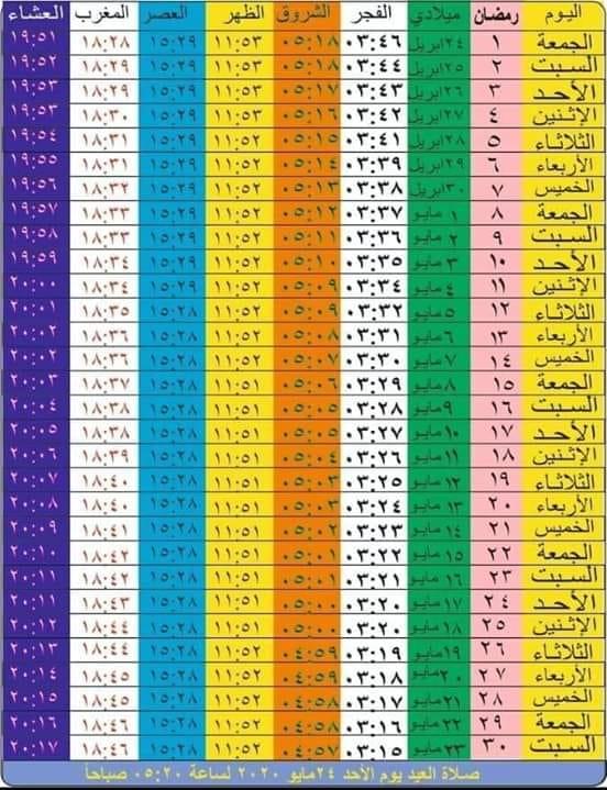 امساكية رمضان 1441 لعام 2020 ,موعد ليلة نصف شعبان 1441 , موعد بداية شهر رمضان 2020 , امساكية شهر رمضان , امساكية رمضان 2020 , موعد اول يوم رمضان , موعد شهر رمضان 2020 , متي بداية شهر رمضان , متي يبدأ شهر رمضان