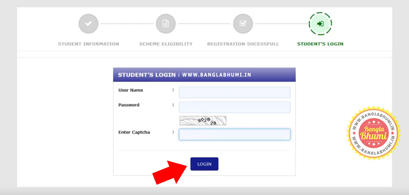 Student Login - Online Application Aikashree Scholarship West Bengal