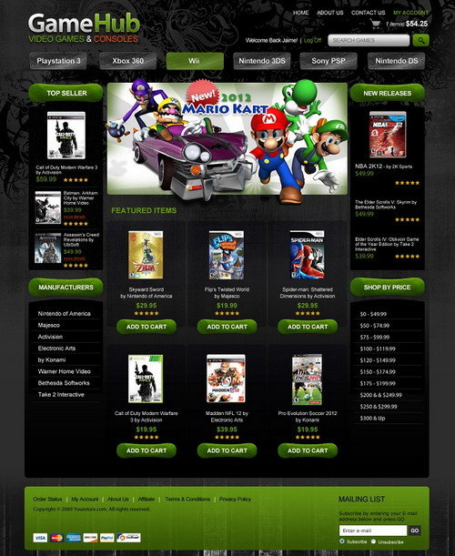 GameHub Template