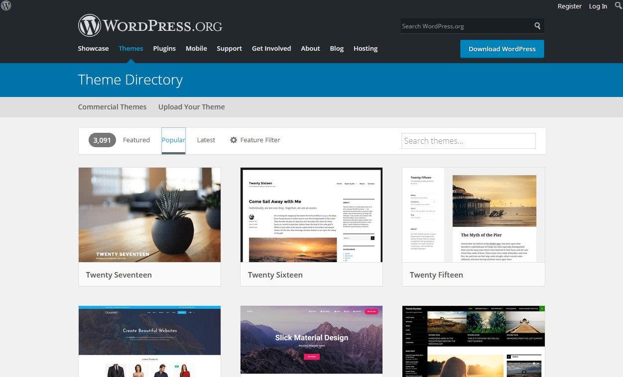 Top 10 Sites for Wordpress Themes