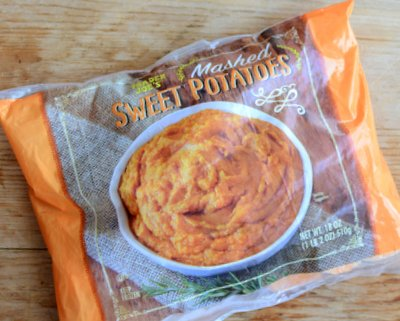 Trader Joe's Mashed Sweet Potatoes product review ♥ A Veggie Venture. Weight Watchers Friendly (Purple Plan). Low Fat & Filling. Gluten Free.