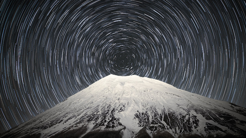 Sky Full of Stars above Mount Fuji