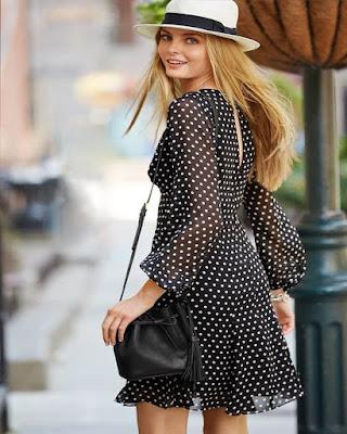 vestido negro de verano juvenil