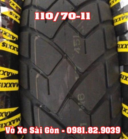 Vỏ xe máy Maxxis 110/70-11 bánh sau Vespa LX, Primavera, Vespa S