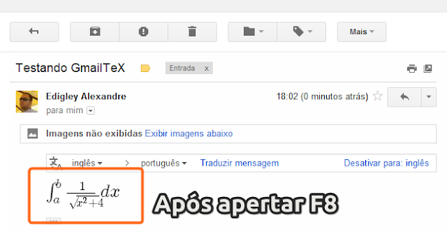 LaTeX no Gmail [Chrome]