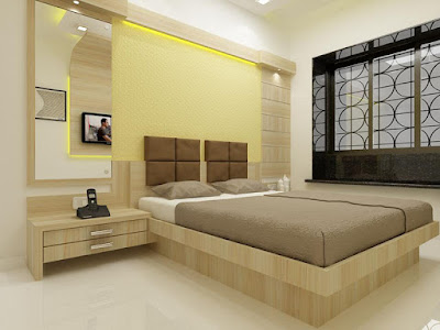 Making The Concept Bedroom Design Bed Against The Wall