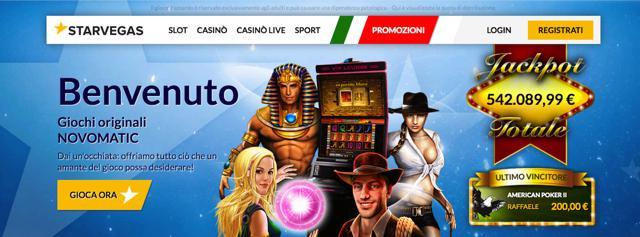 bonus Nuovo StarVegas 2016, nuovo logo e nuovi giochi Casinò Online