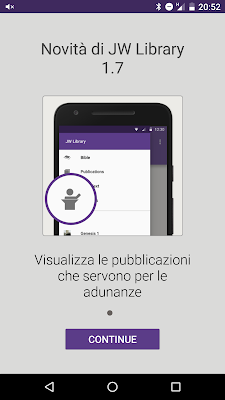 """JW Library per Android si aggiorna alla versione 1.7 ed introduce la sezione """"Adunanze"""""""