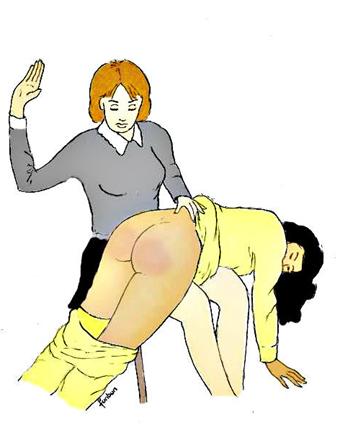 pyajama baissée pour une bonne fessée