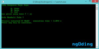 Pengkondisian Memakai Switch - Case Dalam Bahasa Pemrograman C++