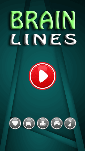 Brain Lines - Free brain game for iPhone menu