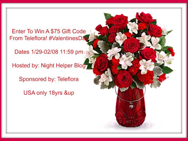 Enter To Win A $75 Gift Code To Teleflora. #Giveaway