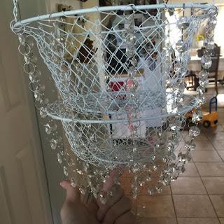 Easy diy chandelier basket