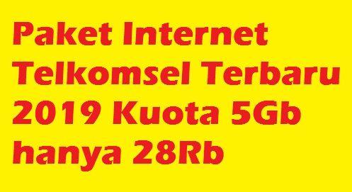 Bagaimana cara mendapatkan paket internet Telkomsel Murah Terbaru kode Rahasia paket internet murah Telkomsel Terbaru 2020 Kuota 5Gb hanya 28Rb